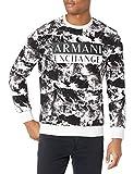 ARMANI EXCHANGE Sudadera para hombre, modelo 6HZMFUZJ2TZ, color blanco Montagna Selvaggia Bianca XXL