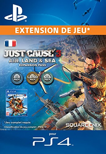 Just Cause 3 : pass Air, terre et mer [Extension De Jeu] [Code Jeu PSN PS4 - Compte français]