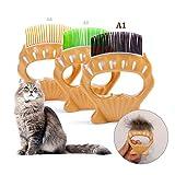 Qisiewell Tierbürste Tierhaarentferner Massagekamm A1 Weich Kurzhaar Pet Shell Muschel-Kamm Haustierbürste elastischen ABS-Bürste Kurzhaarige Kleine Katze Hund Unterhaarentfernung