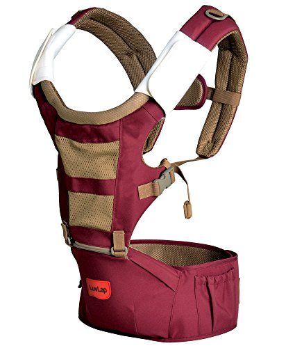LuvLap Royal Baby Hip Seat Carrier with 4 Carry Positions, for 6 to 36 Months, Max Weight Up to 12 Kgs (Purple)
