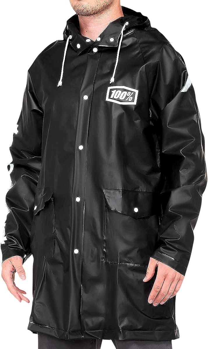 100% Torrent Raincoat Medium Black