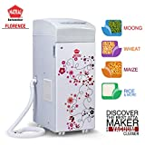 Natraj Florence Aata Chakki Ghar Ghanti Automatic Flour mill With Vacuum Cleaner and Easy Clean Feature White Matte Finish