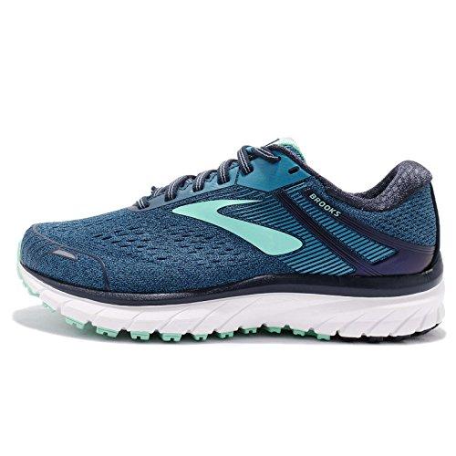 Brooks Women's Adrenaline Gts 18 Running Shoes, Blue (Navy/Teal/Mint 495), 6 UK