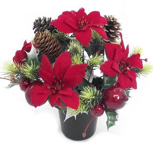 Artificial Christmas Flowers.Christmas Flowers Amazon Co Uk
