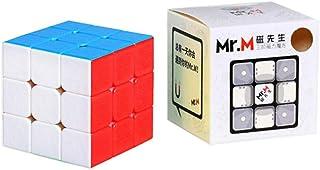 Gobus Shengshou Mr.M Speed Cube Gem Baoshi Mr.M 3x3x3 Magic Cube with One Cube Stand Stickerless