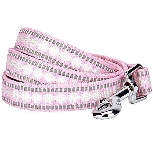 Blueberry Pet Leinen für Hunde 2 cm by 150 cm Länge 3M Reflektierende Jacquard Hundeleine in Pink...