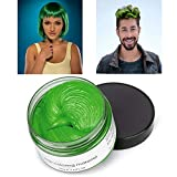 MOFAJANG Hair Color Wax Styling Cream Mud, Temporary Hair Dye Wax Great for Party, Cosplay, Halloween,Fancy Dress, 4.23 OZ (Green)