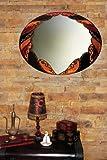 Espejo de cristal decorado artesanalmente con vitral ARABE de 55x70 cms.
