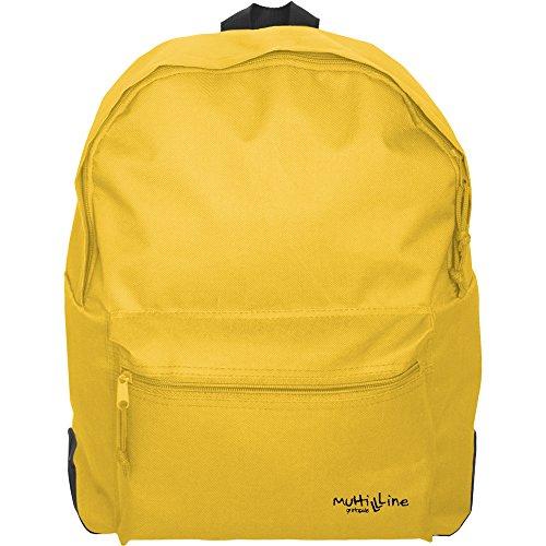 Grafoplás 37500860-Mochila escolar niñas y niños Multiline color amarillo