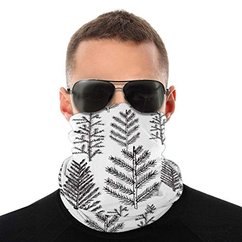 asdew987 Christmas Tree Pine Fir Holidays Unisex Face Scarf Bandana Ear Loops Face Rave Balaclava Men Women Neck Gaiters for Dust Wind Sun UV Motorcycle Cover