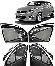 AUTOFACT Magnetic Window Sun Shades for Maruti Suzuki Swift 2012/2013 / 2014/2015 / 2016/2017 -Set of 4 - with Zipper