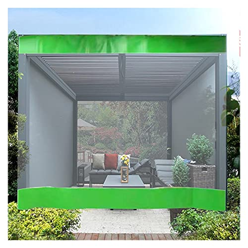 BAIYING Paneles Laterales De Carpa, Lona Impermeable para Exteriores De 0,5 Mm PVC De Alta Transparencia con Ojales De Metal para Jardín, Pérgola, Cochera, 24 Tamaños
