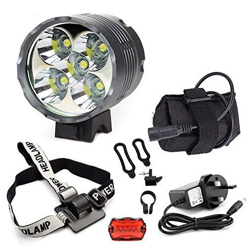 yumun® 5000lumen CREE 3x CREE XM-L T64Modos LED lámpara de luz de los faros linterna frontal cabeza luces de bicicleta luces de bicicleta linterna con 2x 18650batería recargable