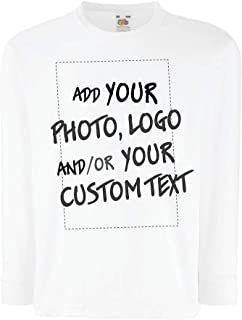 lepni.me Kids T-Shirt Create Your Printed Personalised Design with Favotite Photo or Text Customised Gift