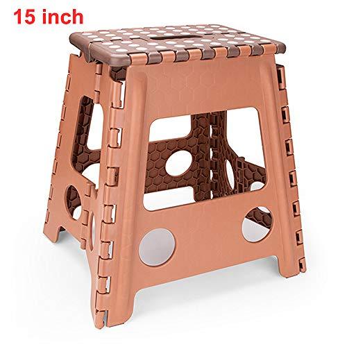 ZFLL Klaptafels en stoelen -niquereizen camping buiten inklapbare opstapkruk kunststof draaggreep draagbare klapstoel anti-slip badkamerkruk 29 x 22 x 27 cm