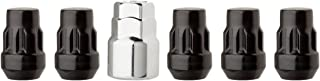 DPAccessories LCB3L2HE-BK04LK5 Black Wheel Locks 1/2-20 Closed End Bulge Acorn 3/4 & 13/16 Locking Lug Nuts Wheel Lock Set