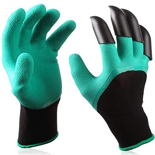 Garden Gloves with Fingertips Claws Quick – Great for Digging Weeding Seeding poking - Safe for Rose Pruning – Best Gardening Tool - Best Gift for Gardeners (includes bag to store them)