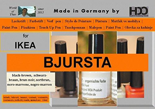Farbstift Lackstift Touch-Up-Pen for IKEA BJURSTA black-brown