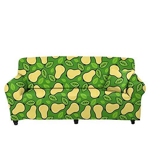 chaqlin Funda de sofá universal elástica, protector de asiento de silla, antideslizante, para sofá seccional, lavable, protector de muebles con patrón de pera