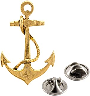 Anchor Pewter Lapel Pin, Brooch, Jewelry, A1026
