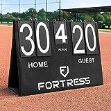 Fortress Baseball Flip Portable Scoreboard - Table Top Score Keeper | Flip Scoreboard for Baseball, Softball, Basketball & Cornhole | Indoor & Outdoor Score Keeper