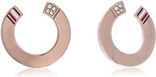 TOMMY HILFIGER WOMEN'S ROSE GOLD ICON EARRINGS - 2780467