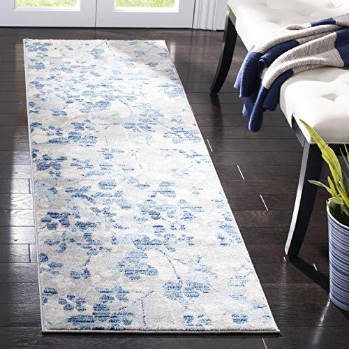 """Safavieh Evoke Collection EVK236J Vintage Floral Grey and Light Blue Area Rug 2'2"""" x 4'"""