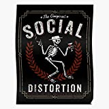 kineticards Rock Rockabilly Distortion Social Legends Music Musicband Band | Home Decor Wall Art Print Poster