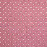Homescapes Stoff Meterware Polka Dots rosa aus 100% reiner