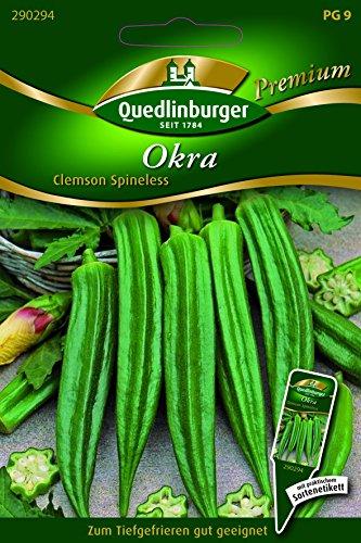 Okra Clemson Spineless - Abelmoschus esculentus QLB Premium Saatgut Kürbis