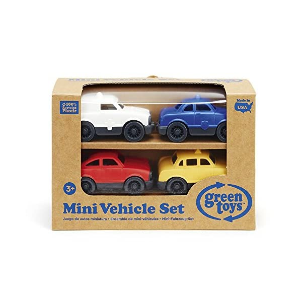 Green Toys Mini Vehicle, 4-Pack in Box