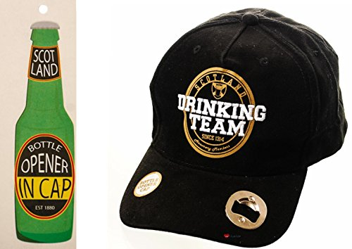 I Luv LTD Baseball Cap Scotland Drinking Team Black Adjustable Strap