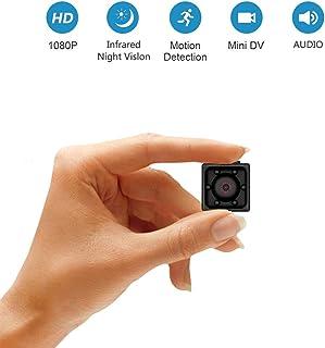 Supoggy Mini Cámara Espía Full HD 1080P Cámara Portátil Pequeño Tamaño con Visión Nocturna Grabación y Detección de Movimiento en Hogar Automóvil Drone Oficinas. Apto para Uso en Exteriores