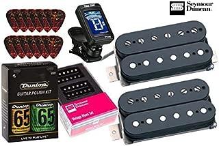 Seymour Duncan Vintage Blues Matched Pickup Set Bundle with True Tune tuner, Dunlop care kit, Fender picks SH-1n '59 SH-1b '59 11108-05-B