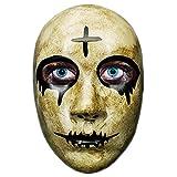 Máscara de Purga de Terror de la Cruz Gris para Hombres, la película The Purge Anarchy, Fiesta de Disfraces de Disfraces de Halloween, se Adapta a la mayoría de los Adultos y Adolescentes