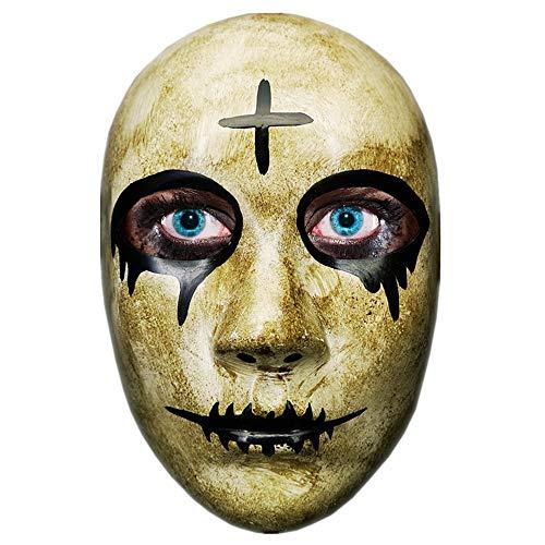 CCUFO Cross Mask & God Maske, Halloween Kostüm Party Maske, Terror Klar Maske Anarchist Cleansing Film, Geeignet für die meisten Erwachsenen