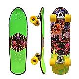 Monopatín Skateboards Skate Completo Pumping Surfskate 31' Mini Cruiser CX4 Carving Truck, Rodamientos ABEC-11 Skates Penny Board Para Niños Jóvenes Adultos, Diseño Cóncavo De Cola Doble De Skateboard