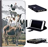 Hairyworm Funny Cat Phone Case Chicken Cat Dog Donkey