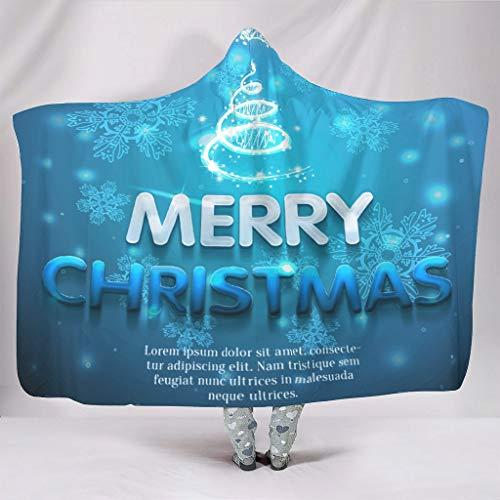 NC83 vleermuis deken Vrolijk kerststerren patroon druk fleece warm deken - glanzende kerst universeel gebruik