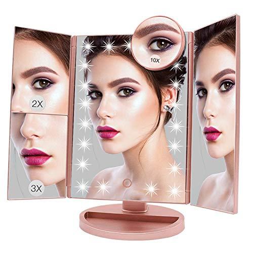Aiskki Miroir de Maquillage, Miroir Lumineux...