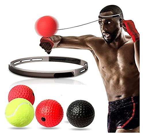 Boxing Reflex Ball Traje Diadema, Cuerda elástica, Muy Adecuado para el Boxeo, MMA, Krav Mega Reflex, Tiempo, Precisión, Foco, Capacitación de coordinación de Ojos a Mano (Color : Yellow)