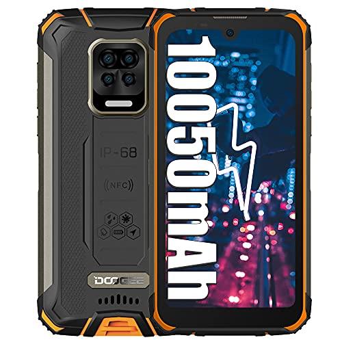 DOOGEE S59 Pro Smartphone Rugged, 10050mAh Batteria 4GB+128GB Cellulari, 16MP Fotocamera 5.71  Pollici Telefono Impermeabile con 4G Dual SIM, Impronta Digitale Viso, NFC GPS Arancia