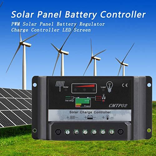 Togames-DE 30A 12 V / 24 V Professionelle LED-Bildschirm PWM Solar Panel Batterie Regler Laderegler CMTP02-30A Schwarz