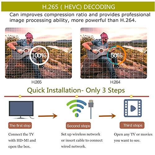 Android TV Box, T9 Android 9.0 Smart TV Box 4GB RAM 64GB ROM RK3318 Quad Core Soporte 2.4 / 5Ghz WiFi Bluetooth 4.0 3D 4K Ultra HD H.265 HDMI USB 3.0 Mini Android Box miniatura