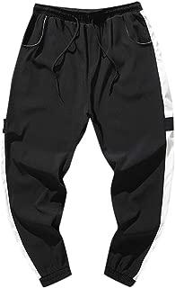 LATINDAY Mens Harem Pants Casual Trousers Cotton Jogging Sweatpants Elastic Waist with Drawstring