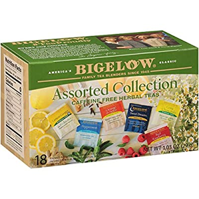 Bigelow Collection Herbal Tea Bags, 18 Count Box (Pack of 6) Caffeine Free, 108 Tea Bags Total (Packaging and Flavor Assortment may vary) - SET OF 10