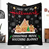 Christmas Blanket This is My Christmas Movie Watching Blanket Candy House Merry Christmas Throw Blanket for Couch Sofa