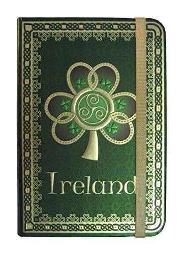 Shamrock Spiral Ireland Foil Notebook with A Green Celtic Design