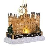 Kurt S. Adler DA2184 Ornament, Downton Abbey Light Up Castle Gold Tone