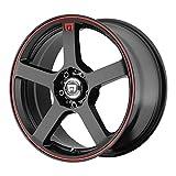 17' Inch 5x112/114.3 Wheel Rim MOTEGI MR116 17x7 +40mm Black Red